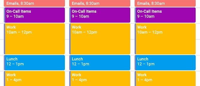 Block Time in Google Calendar for On-Call Events