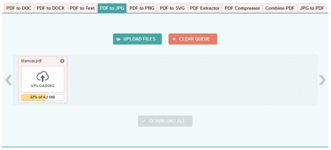 PDF to Image website