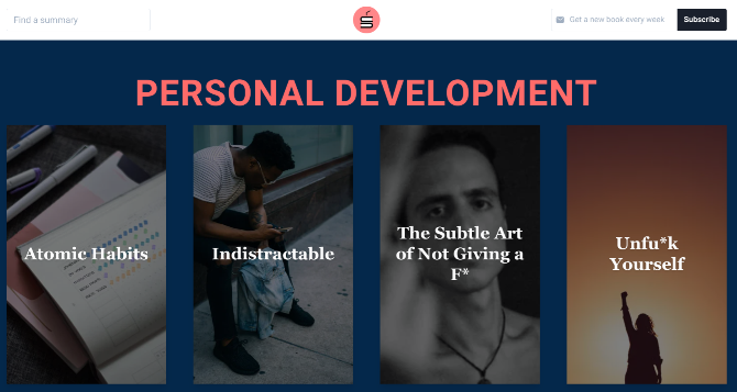 Sipreads offers free book summaries written by real people of personal development and start-up books