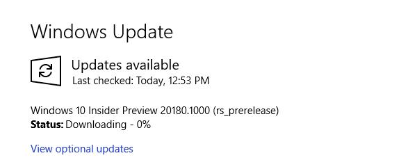 Windows Insider Preview Update