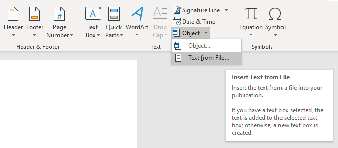 word insert text from file