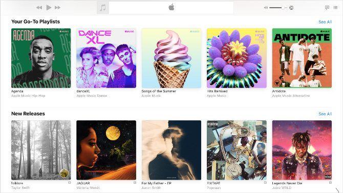 Apple Music menampilkan rilis musik baru