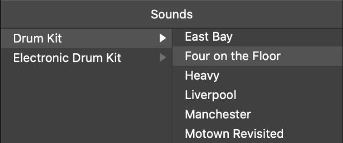 Pemilihan Drum Kit untuk Drummer di GarageBand