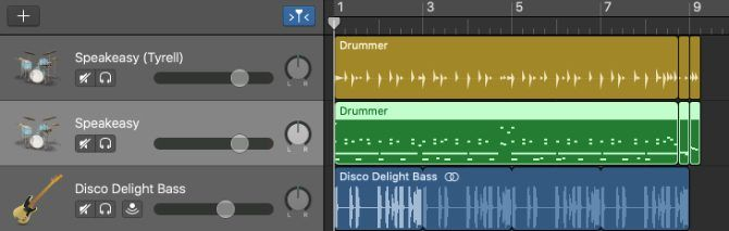 Trek drummer disalin ke trek MIDI
