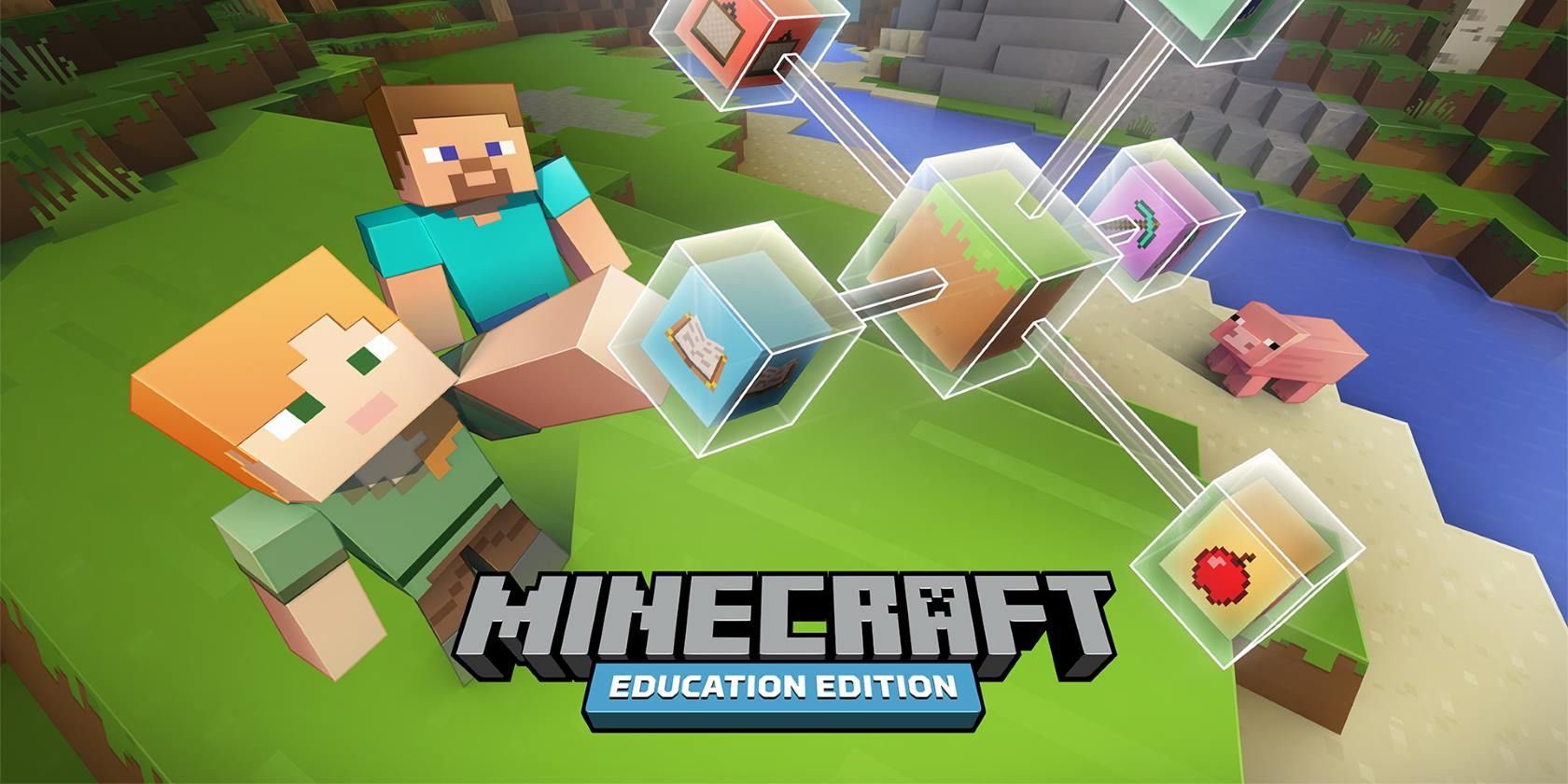 The official Minecraft Education Edition logo