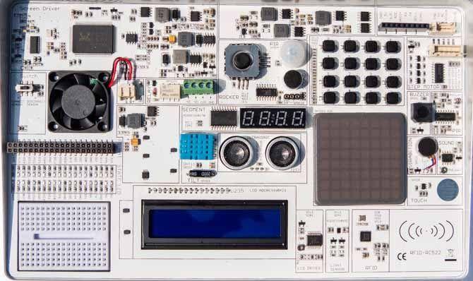 crowpi2 electronics workshop close up