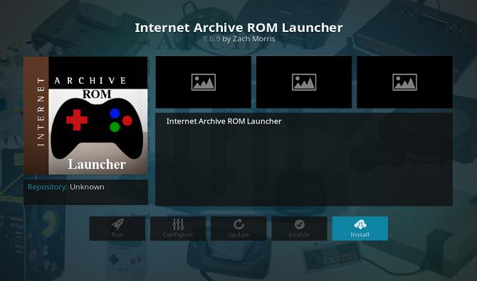instal rom arsip internet di kodi