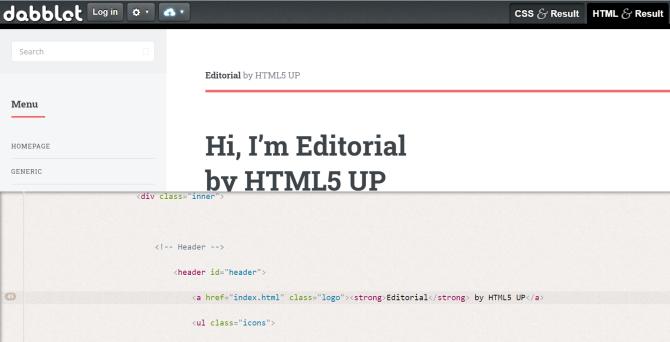 Apakah Dabblet editor HTML online terbaik?