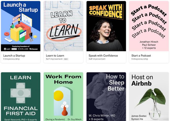 Daftar kursus online audio dan podcast yang dapat diketahui oleh para ahli