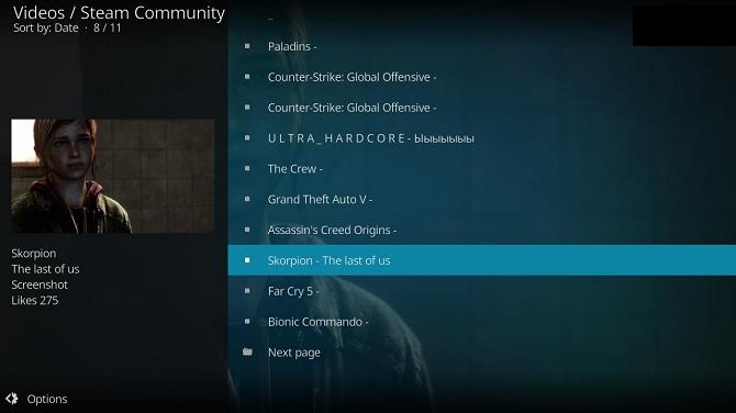 daftar video kodi komunitas uap