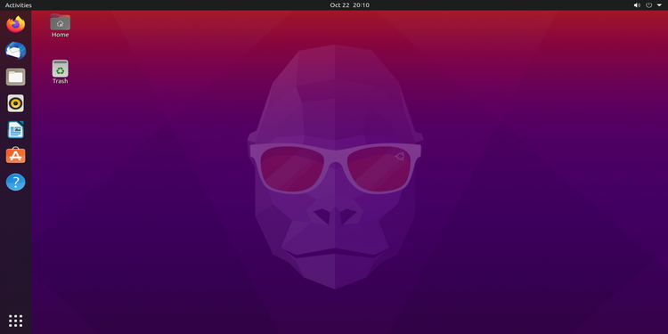 Рабочий стол Ubuntu 20.10 Groovy Gorilla