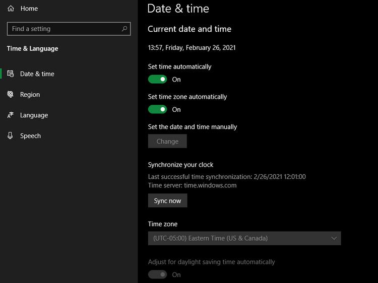 حل مشکل نمایش اشتباه زمان در ویندوز