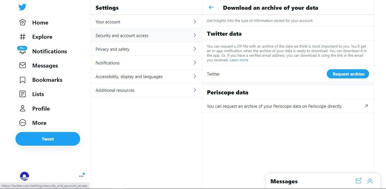 How to Download a Copy of All Your Twitter Data
