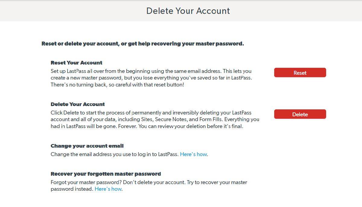 How Do I Delete My LastPass Account?