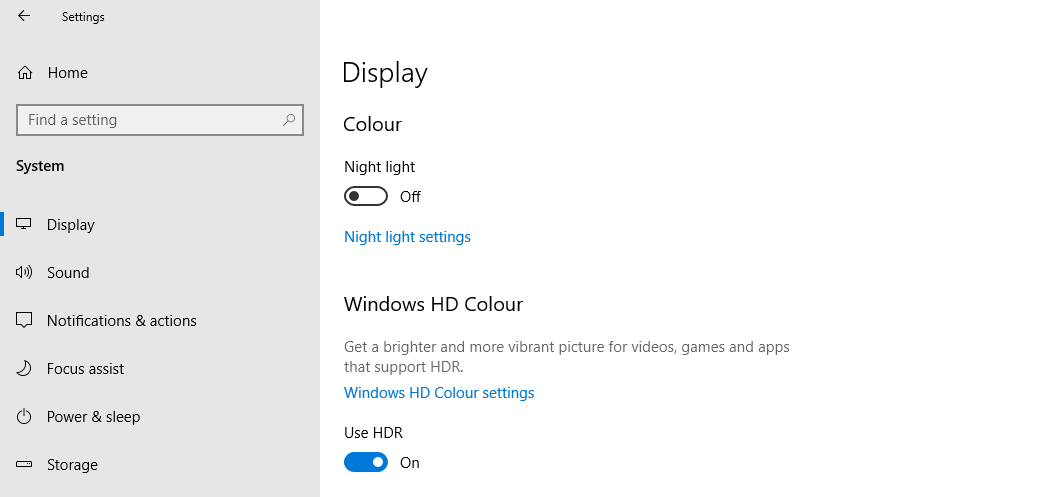 How to Enable HDR Mode in Windows 10