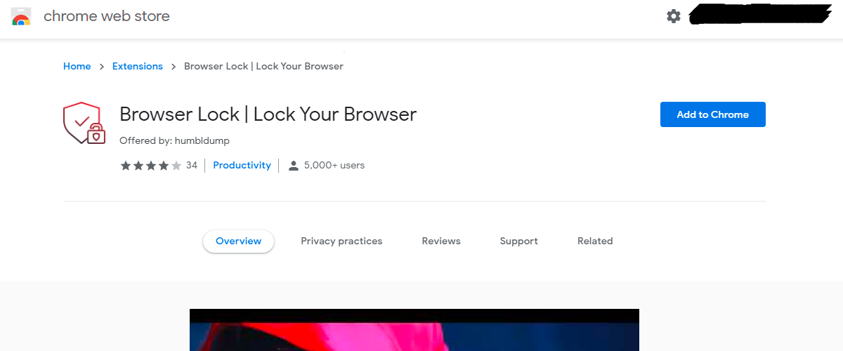 browser-lock-chrome-extension