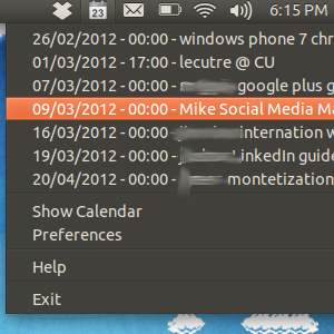 Calendar Indicator: See Your Google Calendar In Ubuntu's Tray [Linux]